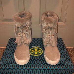 Tory Burch fur boot